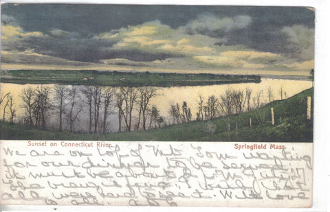 Sunset on Connecticut River-Springfield,Massachusetts 1906 - Cakcollectibles - 1
