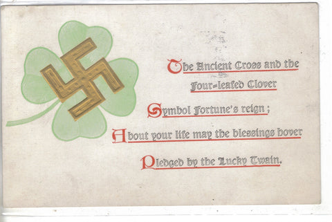 The Ancient Cross and The Four Leaf Clover 1909 - Cakcollectibles