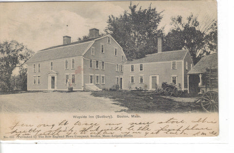 Wayside Inn (Sudbury)-Boston,Massachusetts 1905 - Cakcollectibles - 1
