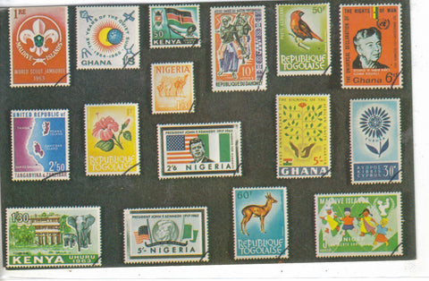 Vintage Postcard of African Stamps Post Card - 1