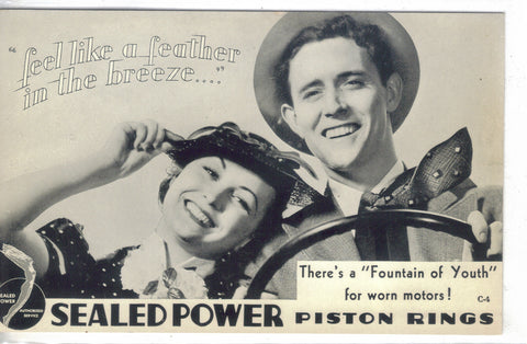 Advertising Post Card-Sealed Power Piston Rings  - 1