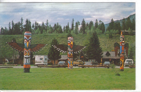 Totem Poles at Alpine,Wyoming Post Card - 1
