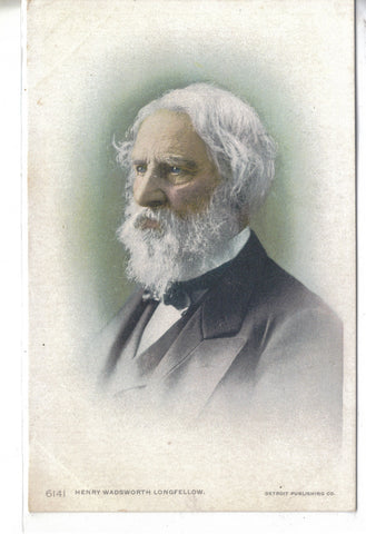 Henry Wadsworth Longfellow-Early Post Card  - 1