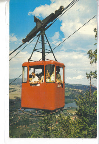 Tram Car near Summit of Prospect Mt. in Estes Park,Colorado Post Card - 1