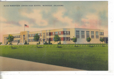 Alice Robertson Junior High School-Muskogee,Oklahoma Post Card - 1