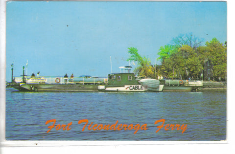 Fort Ticonderoga Ferry between Ticonderoga,NY. and Shoreham,Vt. on Lake Champlain - Cakcollectibles - 1
