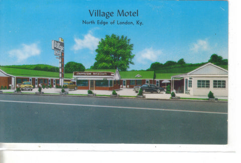 Village Motel-London,Kentucky - Cakcollectibles
