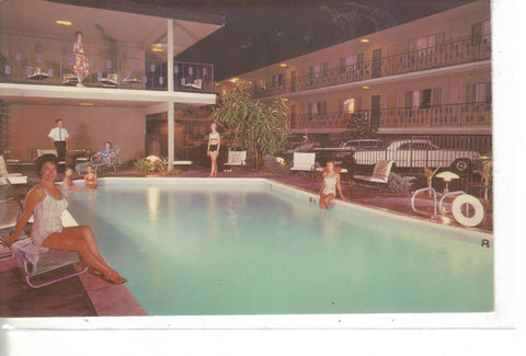 Swimming Pool,The Tolucan Motel-Burbank,California - Cakcollectibles