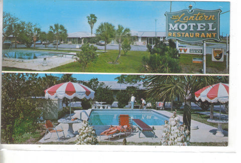 The Lantern Motel & Restaurant-Lake Wales,Florida -vintage postcard - 1