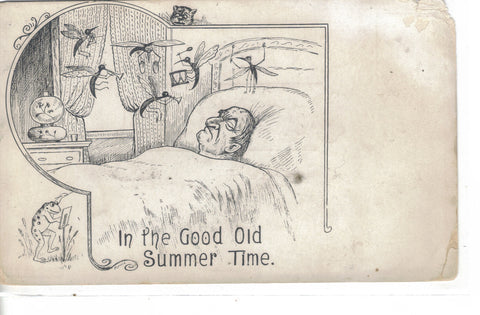 """In The Good Old Summertime""-Man Dreaming about Mosquito Band UDB - Cakcollectibles - 1"