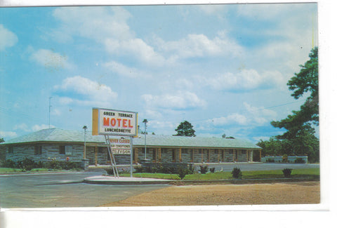 Green Terrace Motel & Luncheonette-Folsom,New Jersey -vintage postcard - 1