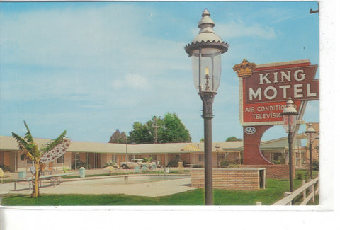 King Motel-Little Rock,Arkansas -vintage postcard - 1