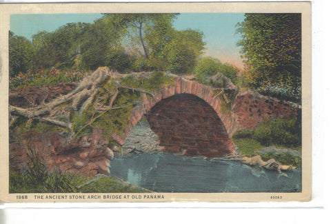 The Ancient Stone Arch Bridge at Old Panama 1937 - Cakcollectibles - 1