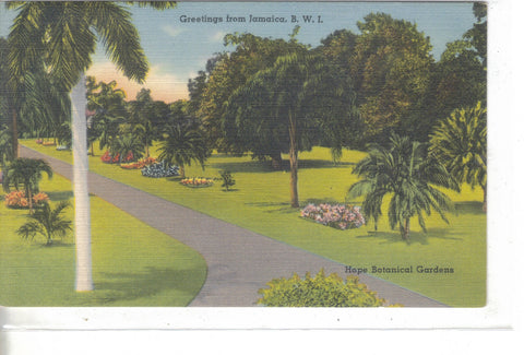 Hope Botanical Gardens-Greetings from Jamaica,B.W.I. - Cakcollectibles - 1