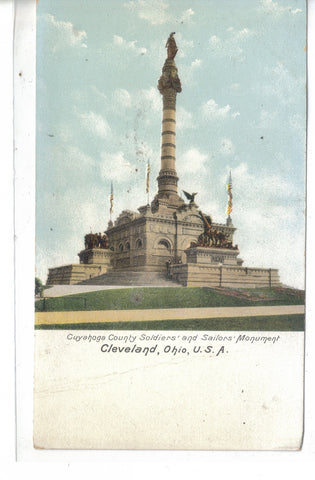 Cuyahoga County Soldiers' and Sailors' Moument-Cleveland,Ohio UDB - Cakcollectibles - 1
