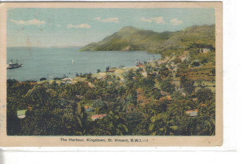 The Harbour-Kingstown,St. Vincent,B.W.I. 1942 - Cakcollectibles - 1