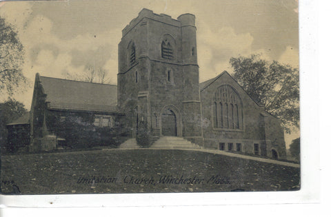 Unitarian Church-Winchester,Massachusetts 1907 - Cakcollectibles - 1