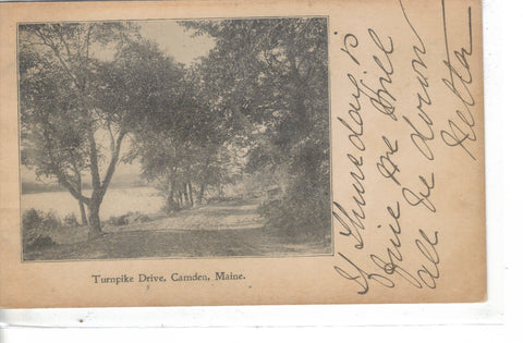Turnpike Drive-Camden,Maine 1905 - Cakcollectibles - 1