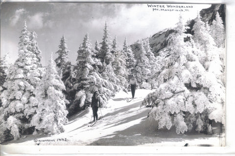 RPPC-Winter Wonderland-Mt. Mansfield,Vermont (Skiers) - Cakcollectibles - 1