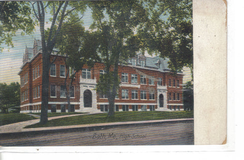 High School-Bath,Maine 1910 - Cakcollectibles - 1