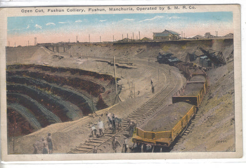 Open Cut,Fushun Colliery-Fushun,Manchuria - Cakcollectibles - 1