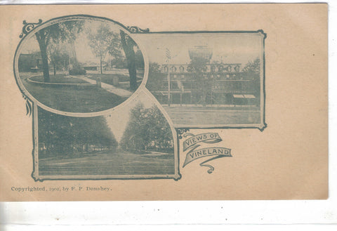 Views of Vineland-Undivided Back Post Card - Cakcollectibles - 1