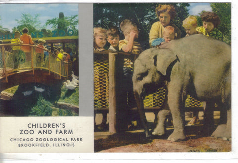 Baby Elephant,Children's Zoo & Farm,Chicago Zoological Park-Brookfield,Illinois - Cakcollectibles - 1