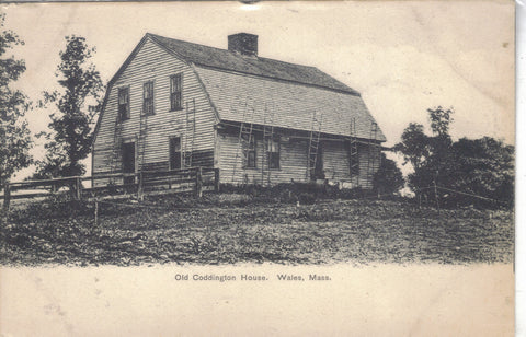 Old Coddington House-Wales,Massachusetts UDB - Cakcollectibles - 1