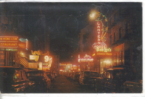 Chinatown at Night-Boston,Massachusetts 1962 - Cakcollectibles - 1
