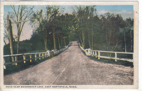 Road Near Wanamaker Lake - East Northfield,Massachusetts 1922 - Cakcollectibles - 1