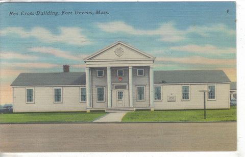Red Cross Building - Fort Devens,Massachusetts 1952 - Cakcollectibles - 1