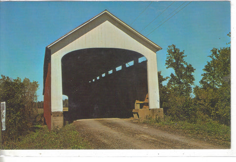 Nevins Bridge across Little Raccoon Creek near Catlin,Indiana - Cakcollectibles - 1