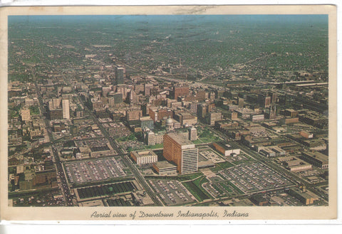 Aerial View of Downtown Indianapolis,Indiana 1965 - Cakcollectibles - 1