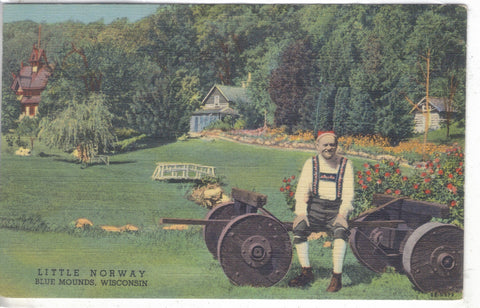 Little Norway-Blue Mounds,Wisconsin Linen Postcard - Cakcollectibles - 1