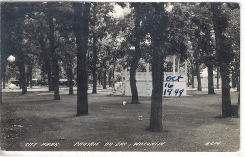 RPPC-City Park-Prairie Du Sac,Wisconsin - Cakcollectibles - 1