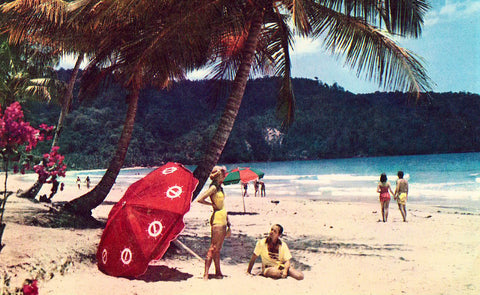 Beach along Maracas Bay near Port of Spain - Trinidad