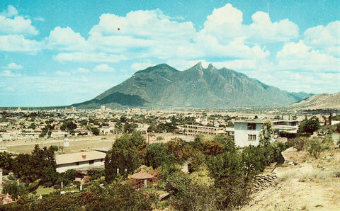 Saddle Back Mountain - Monterrey,Mexico Postcard