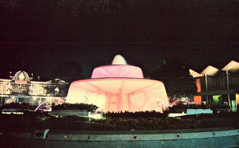 Princess Margaret Fountain at Night-Canadian National Exhibition