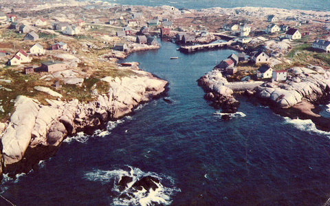 Aerial View of Peggy's Cove - Nova Scotia,Canada