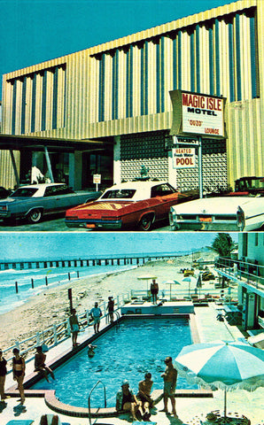 Magic Isle Motel - Miami Beach,Florida Postcard