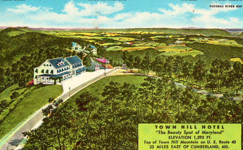 Town Hill Motel - Maryland Postcard