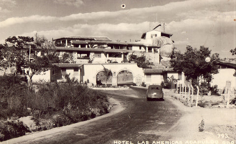 Hotel Las Americas - Acapulco Gro.,Mexico Real Photo Postcard