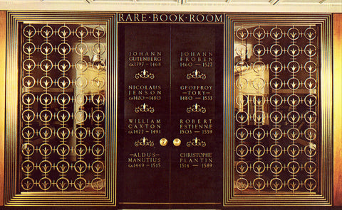 Rare Book Room,Detroit Public Library - Detroit,Michigan Postcard