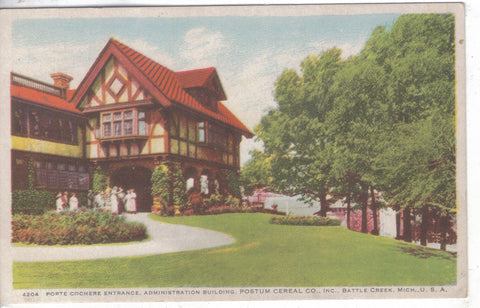Administration Building,Postum Cereal Co.,Inc.-Battle Creek,Michigan - Cakcollectibles - 1