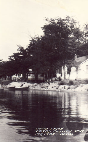 Sand Lake - Iosco County,McIvor,Michigan Postcard
