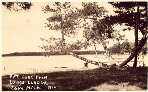 8 Pt. Lake from Lukes Landing - Lake Michigan Postcard