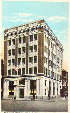 The First National Bank of Grand Island,Nebraska Postcard