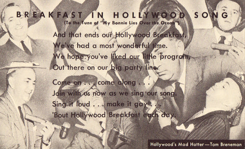 Breakfast in Hollywood Song Old Postcard