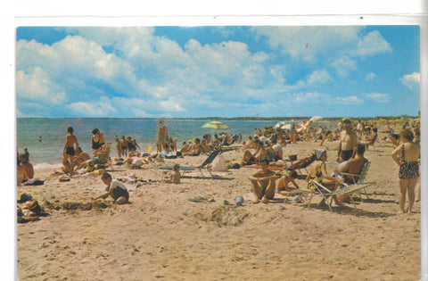 Beach and Bathers at Old Orchard Beach-Maine - Cakcollectibles - 1