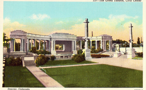 The Greek Theatre - Denver,Colorado Vintage Postcards